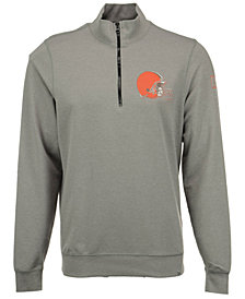 '47 Brand Men's Cleveland Browns Forward Peak Quarter-Zip Pullover