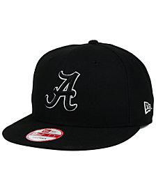 New Era Alabama Crimson Tide Black White 9FIFTY Snapback Cap