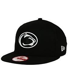 Penn State Nittany Lions NCAA Black White Fashion 9FIFTY Snapback Cap