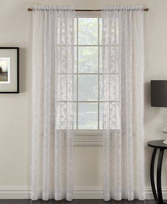 "miller curtains chickadee 48"" x 84"" sheer curtain panel - sheer"