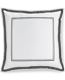 Hotel Collection Pair of Embroidered Frame European Shams, Created for Macy's
