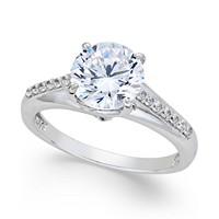 Macy's Women's Sterling Silver Cubic Zirconia Ring