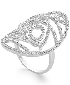 Diamond Open Oval Large Ring (3/4 ct. t.w.) in 14k Gold or White Gold
