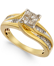 Diamond Swirl Ring (1 ct. t.w.) in 14k Gold
