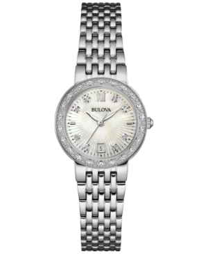 Bulova Women's Maiden Lane Diamond Accent Stainless Steel Br