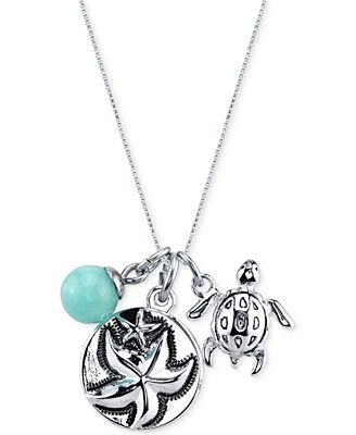 unwritten jewelry unwritten starfish charm and amazonite 8mm necklace in 5722
