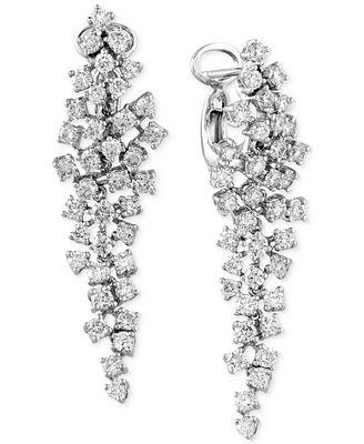 Classique By EFFY Diamond Cluster Chandelier Earrings (2-5/8 ct ...