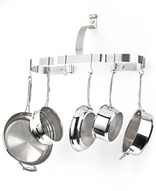 Chef's Classic Stainless Steel Oval Wall Pot Rack