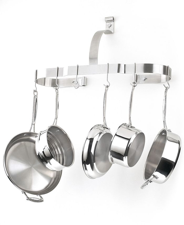 Cuisinart - Chef's Classic Stainless Pot Rack, Oval Wall
