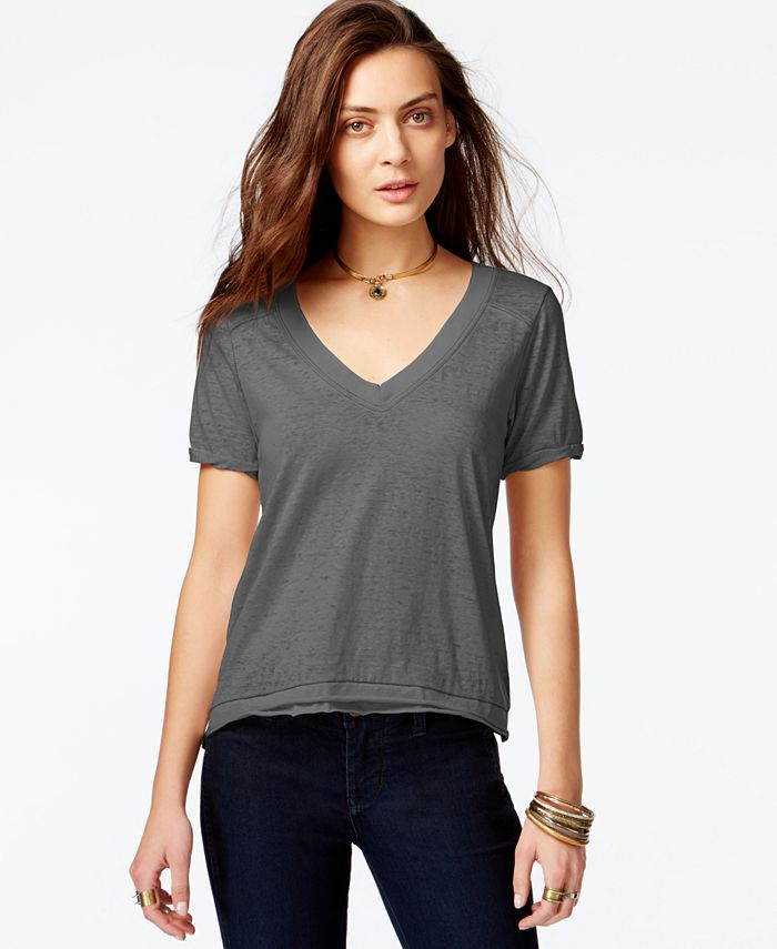 Free People - Pearl's V-Neck T-Shirt