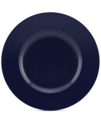 Larabee Dot Navy Collection Stoneware Accent Plate