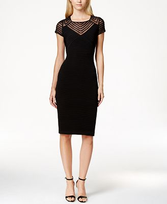 Calvin Klein Cap-Sleeve Sheath Dress Regular U0026 Petite Sizes - Dresses - Women - Macyu0026#39;s