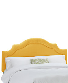 Jace Twin Shirred Notch Headboard, Quick Ship