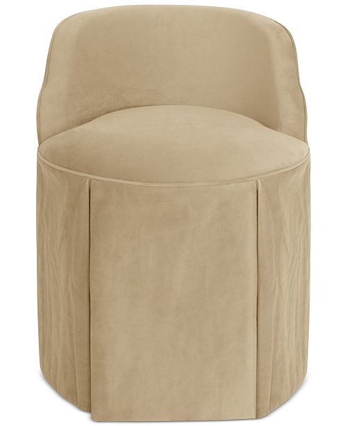 Blush Brass Jasmine Skirted Vanity Chair Quick Ship Reviews