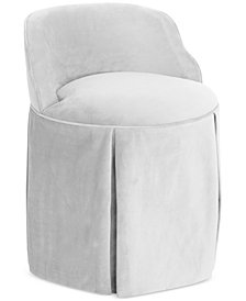 Jasmine Skirted Vanity Chair, Quick Ship