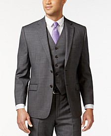 Grey Sharkskin Big and Tall Jacket