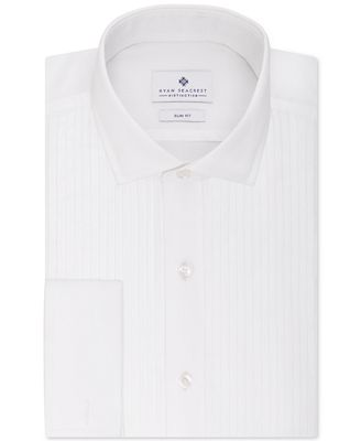 Ryan Seacrest Slim-Fit Pleated Front French Cuff Non-Iron Dress Shirt, Only at Macy's