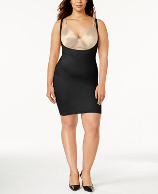 Spanx plus size super firm control open bust slip 990p for Plus size spanx for wedding dress