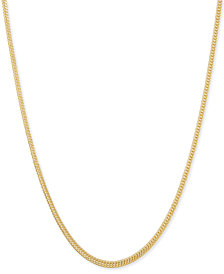 "Italian Gold Foxtail 22"" Chain Necklace in 14k Gold"