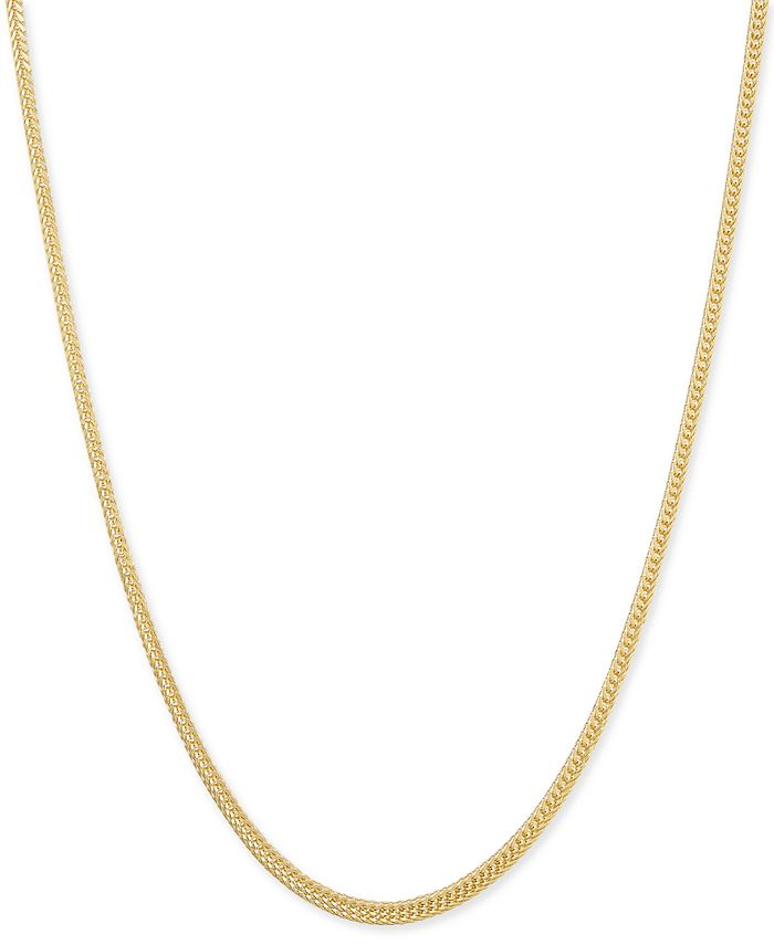 Macy's - Foxtail (1-1/3mm) Chain Necklace in 14k Gold 1.3MM
