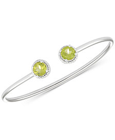 Peridot Open Bangle Bracelet (2-3/8 ct. t.w.) in Sterling Silver