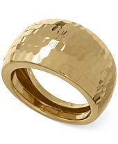 Italian Gold Wide Domed Ring in 14k Gold