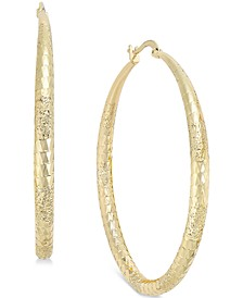 "Extra Large 2.3"" Diamond Cut Hoop Earrings, Created for Macy's"
