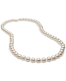 Belle de Mer Cultured Freshwater Pearl (7mm) Strand in 14k Gold