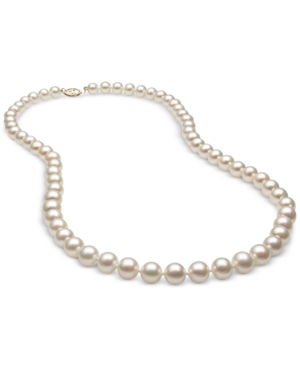 """Cultured Freshwater Pearl (7mm) Strand 20"""" in 14k Gold"""