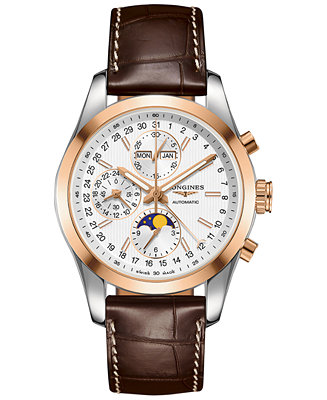 Longines Men's Automatic Chronograph Conquest Classic Brown
