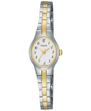 Pulsar Women's Basic Dress Two-Tone Stainless Steel Bracelet Watch 17mm PC3281