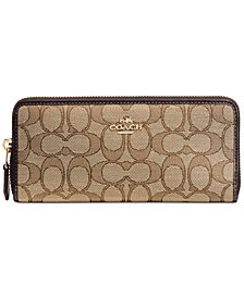 COACH Boxed Slim Accordion Zip Wallet in Signature Jacquard