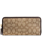 f04b894d06e756 COACH Slim Accordion Zip Wallet in Signature Jacquard