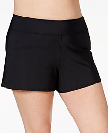 Swim Solutions Plus Size Swim Shorts, Created for Macy's
