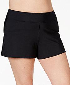 Swim Solutions Plus Size Swim Shorts, Created for Macy's