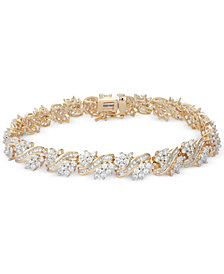 Diamond Cluster Bracelet (5 ct. t.w.) in 10k Gold