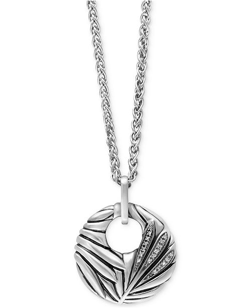 EFFY Collection EFFY Balissima Diamond Accent Pendant Necklace in Sterling Silver