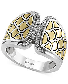 EFFY Balissima Diamond Accent Statement Ring in Sterling Silver and 18k Gold