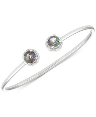 Mystic Topaz Open Bangle Bracelet (3-1/5 ct. t.w.) in Sterling Silver