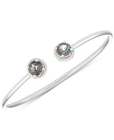Mystic Topaz Open Bangle Bracelet (3-1/5 ct. t.w.) in Sterling Silver