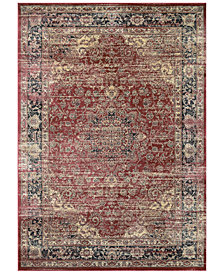 "CLOSEOUT! Couristan HARAZ HAR428 Red 2' x 3'7"" Area Rug"