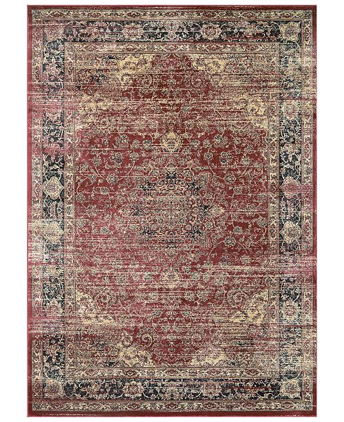 "Couristan CLOSEOUT! HARAZ HAR428 Red 5'3"" x 7'6"" Area Rug"