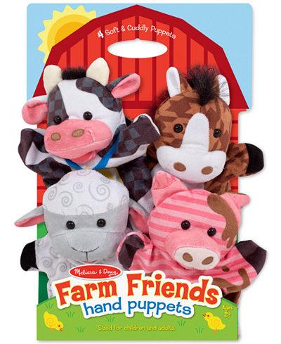 Melissa and Doug Kids' Farm Friends Hand Puppets Set