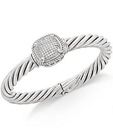 Diamond Pavé Bangle Bracelet (1/2 ct. t.w.) in Sterling Silver