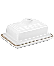 Stoneware 2-Pc. Lidded Heritage Butter Dish