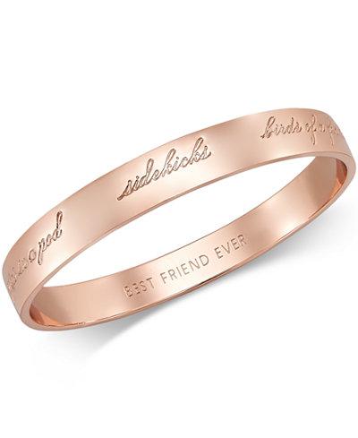 Kate Spade New York Rose Gold Tone Bridesmaid Bangle Bracelet
