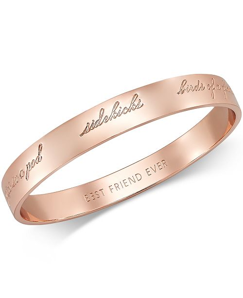 Kate Spade New York Rose Gold Tone Bridesmaid Bangle Bracelet 11 Reviews 58 00 Main Image