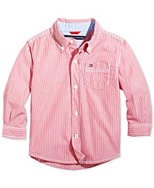 Baby Boys Button Down Stripe Shirt