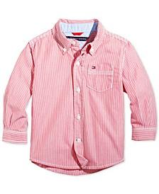 Baby Boys Button Down Stripe Shirt