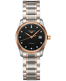 Longines Women's Swiss Automatic The Longines Master Collection Two-Tone Stainless Steel Bracelet Watch 29mm L22575597